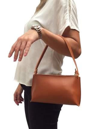 4faa3d037 Mini bolsa feminina para festas e jantares em couro sintético caramelo