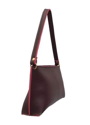 Mini bolsa feminina para festas e jantares em couro sintético café