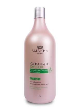 Shampoo control detox cabelos oleosos 1l amakha paris