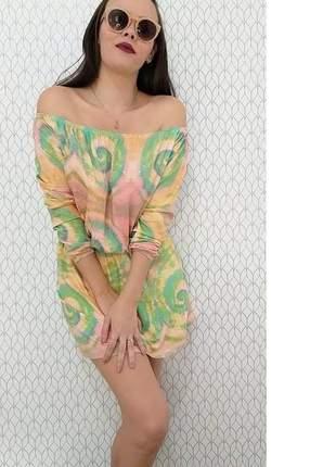 Vestido ciganinha elástico na cintura tie dye (disponível do p ao exgg)