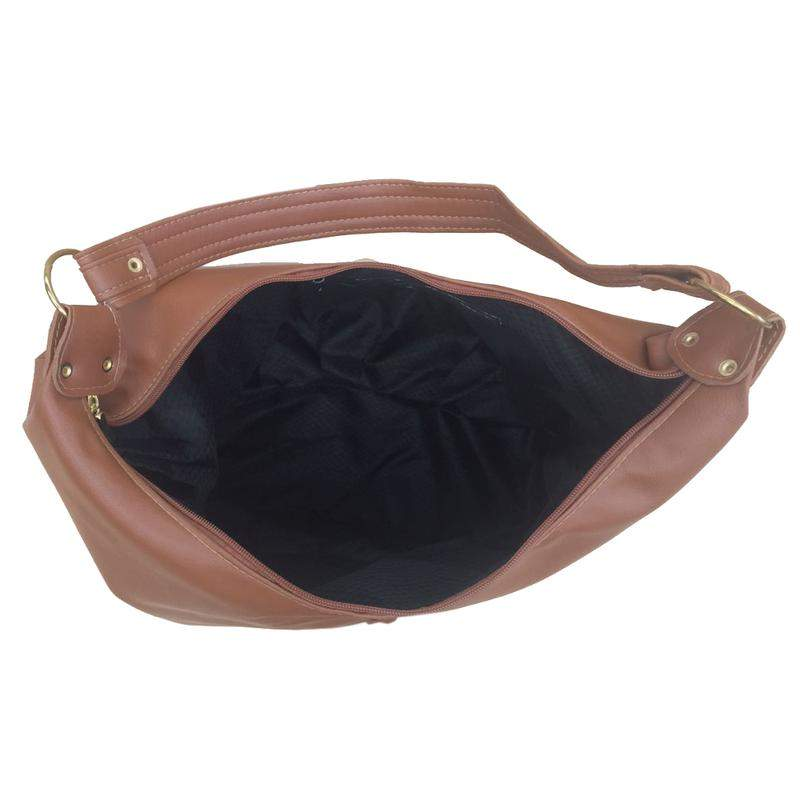 0aef39e6a Bolsa feminina grande de ombro couro sintético caramelo - R$ 85.90 ...