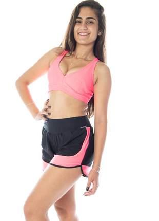 Conjunto fitness top academia nadador e short corrida