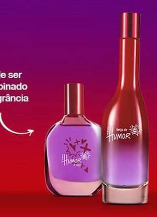 Combo beijo de humor feminino com perfume e elixir natura