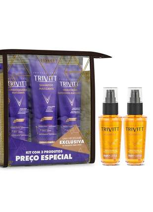 Kit trivitt home care matizante + 2 power oil trivitt 30ml