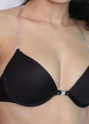 Soutien /sutia frente única com alças de silicone frente e costas