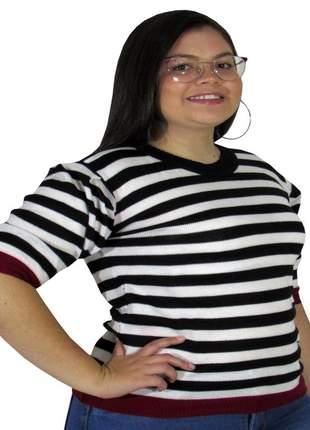 Blusa básica feminina tricot malha de verão