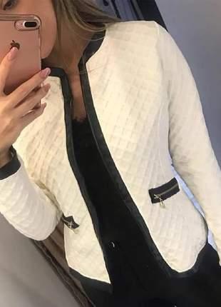 Blazer casaco jaqueta metalassê envio rápido