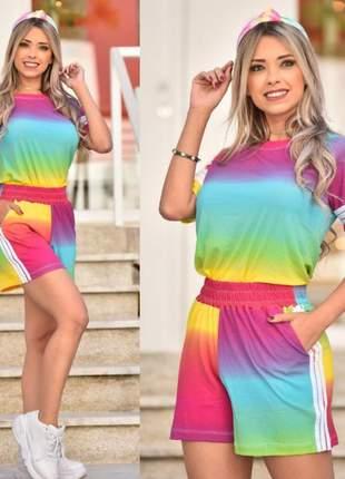 Conjunto tie dye arco íris  exclusivo