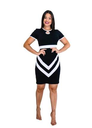 Vestido moda evangélica social ref 628