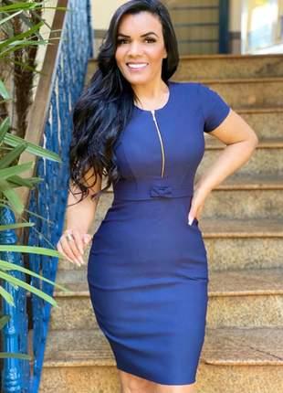 Vestido midi azul