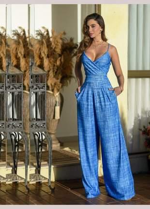 Macacao pantalona blue
