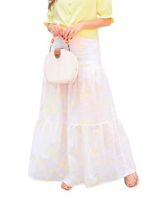 Saia longa feminina evangelica tres marias moda confortavel