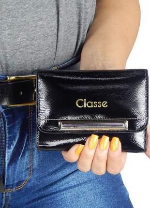 Carteira feminina couro classe couro legítimo ctf256