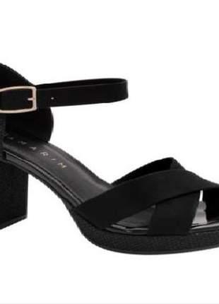 Sandália meia pata com brilho ramarim 19-33204