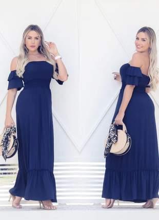 Vestido longo ciganinha - blue