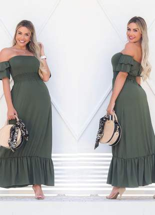 Vestido longo ciganinha - green