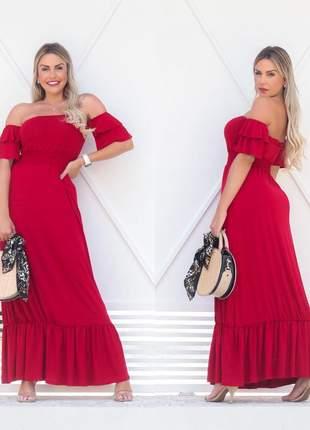 Vestido longo ciganinha - red