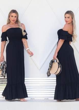 Vestido longo ciganinha - black