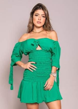 Vestido boneca ombro a ombro* green