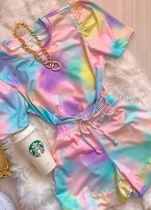 Conjunto princesa tie dye