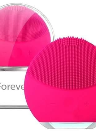Esponja de limpeza facial elétrica forever escova massageadora limpeza pele facial