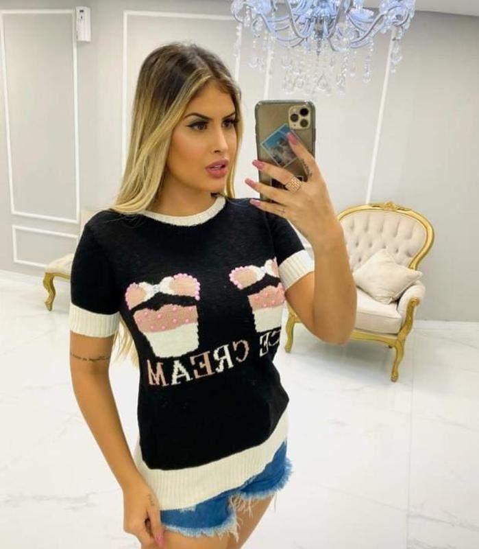 COMPRE CERTO / Blusa tricot modal luxo