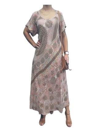 Vestido indiano em seda boho premium