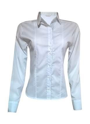 Camisa feminina manga longa branca
