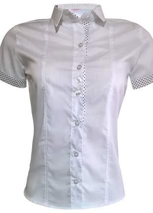 Blusa feminina manga curta branca