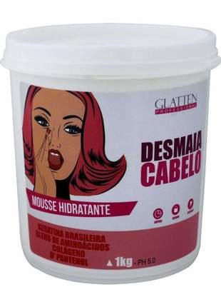 Glatten desmaia cabelo máscara mousse hidratante - 1kg