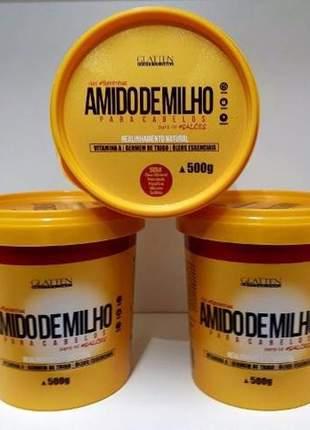 Maizzena para cabelos glatten professional creme alisante 500g