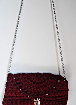 Bolsa pequena vermelho mescla