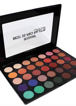 Paleta de sombras best 35 cores palette sp colors maquiagem para olhos sombra