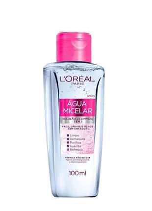 Água micelar solução de limpeza facial 5 em 1 l'oréal paris 100ml