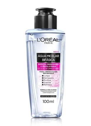 Água micelar bifásica especial maquiagem à prova d'água 100ml