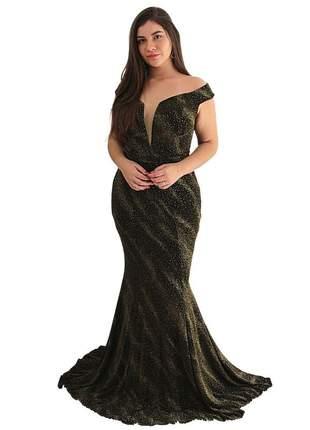 Vestido de festa super luxo brilho tomara que caia formatura casamentos justo