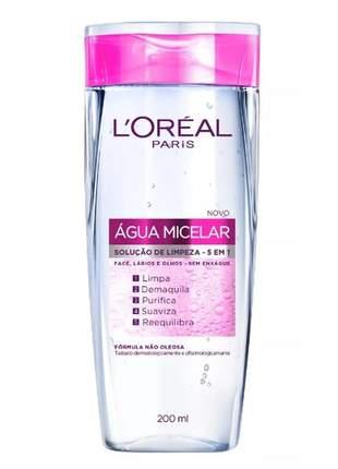 Água micelar solução de limpeza facial 5 em 1 l'oréal paris 200ml