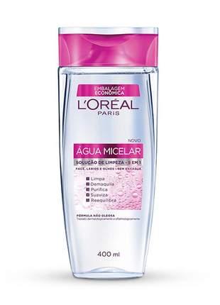 Água micelar solução de limpeza facial 5 em 1 l'oréal paris 400ml