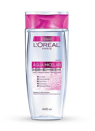 Água micelar  limpeza facial 5 em 1 lorel 400ml