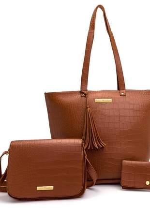 Bolsa feminina kit com 03 peças