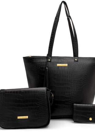 Bolsa feminina kit 03 peças
