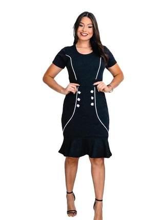 Vestido midi moda evangélica ref 697