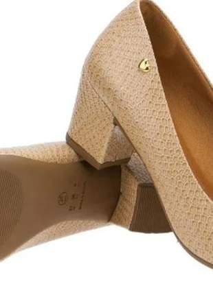 Scarpin sapato social feminino salto bloco