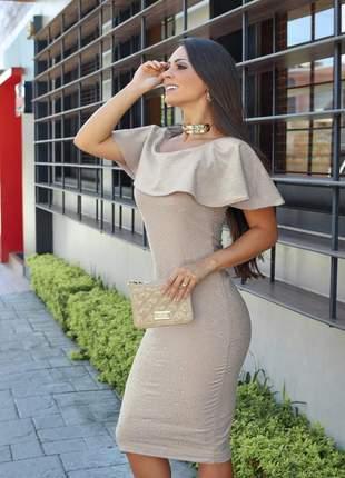 Vestido tubinho ciganinha (moda evangélica)
