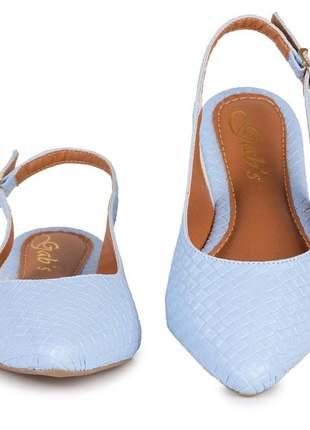 Sapatilha slingback feminino azul bebê