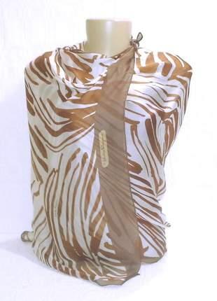 Lenço grande ferragamo autêntico seda pura - vendido