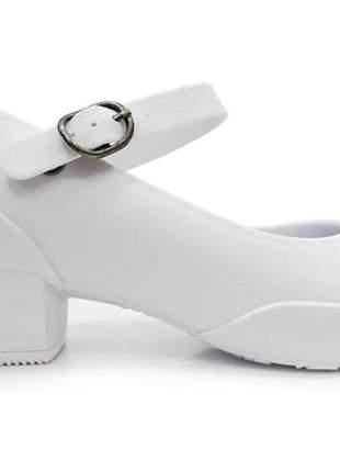 Sapato feminino scarpin boa onda anatômico impermeável 1208 branco.
