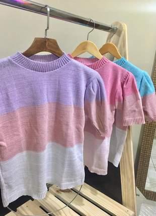 Blusa tricozinho colorida