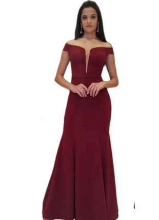 Vestido longo de festa tamanho p e plus size luxo marsala madrinha de casamento ombro