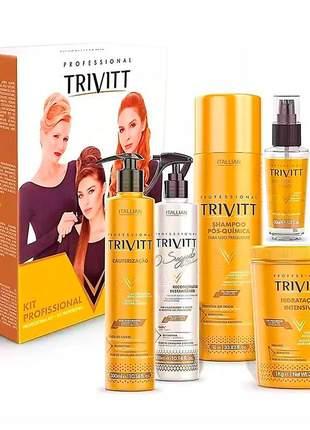 Kit trivitt profissional reconstrução pós química (6 itens)